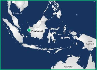 Researchers chose to place DIMOP instrumentation near Pontianak, Borneo Island, Indonesia, in part because it is representative of the Indo-Pacific Maritime Continent, which impedes the free flow of the Madden-Julian Oscillation as it moves eastward.
