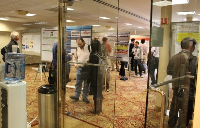 Lengthy poster sessions provided time for researchers to view and discuss a wide range of research topics.
