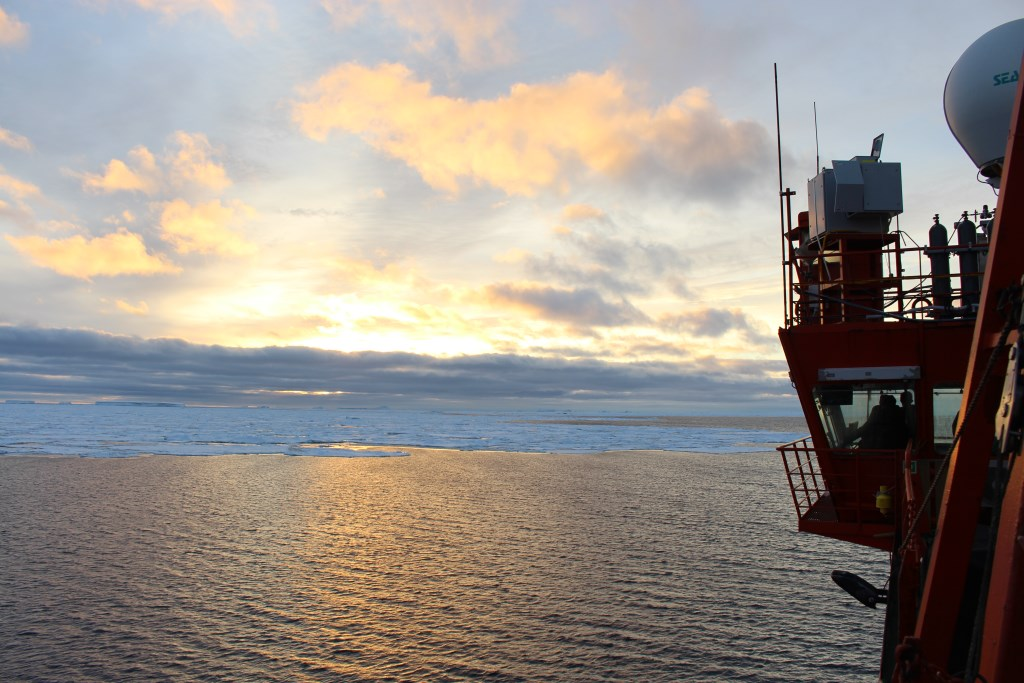 During the Measurements of Aerosols, Radiation, and Clouds over the Southern Ocean (MARCUS) field campaign, ARM instruments aboard the Aurora Australis supply vessel collected atmospheric data while traveling between Australia and Antarctica between October 2017 and April 2018.