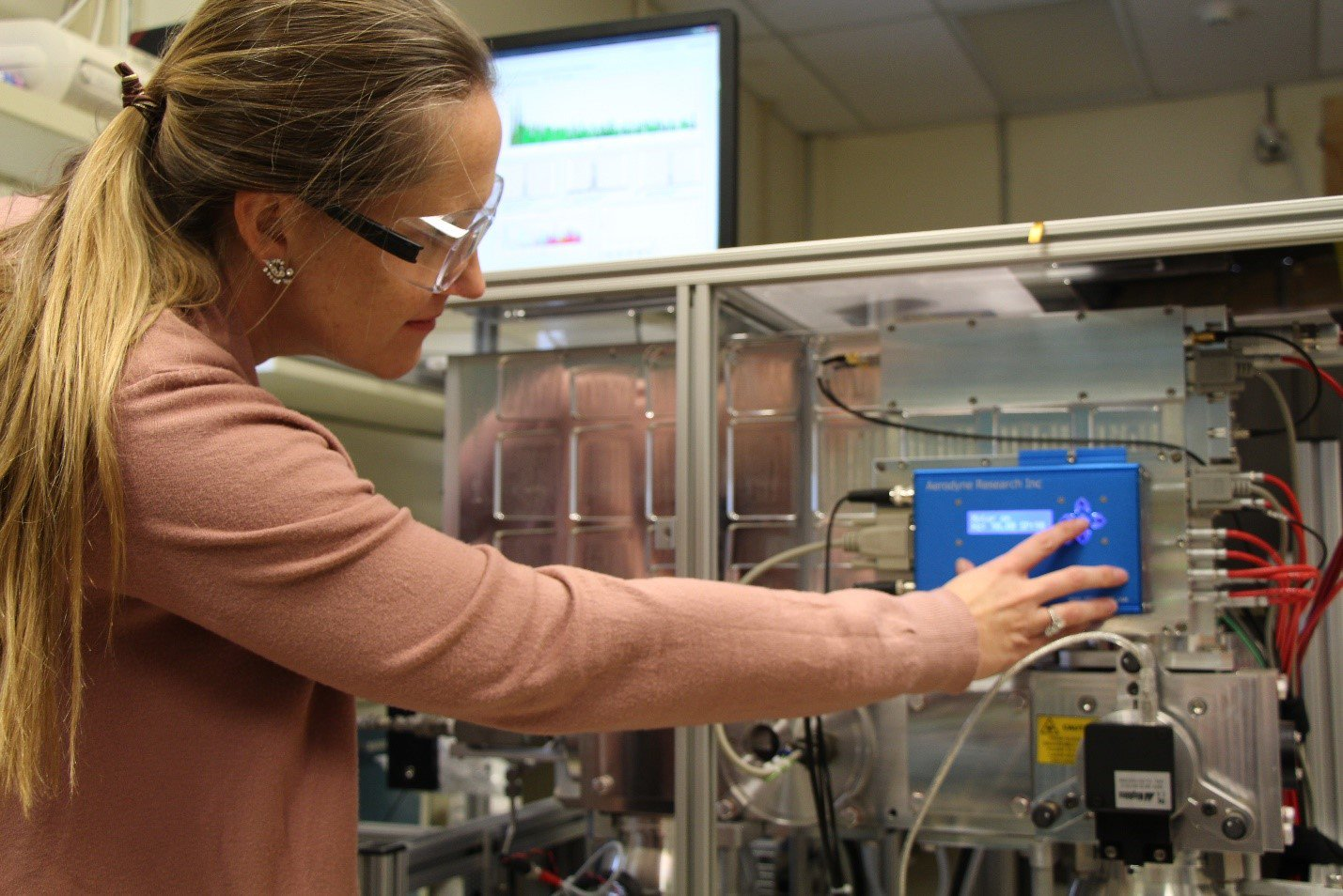 Allison C. Aiken is hard at work at Los Alamos National Laboratory. Photo is courtesy of Aiken.